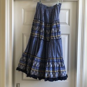 French cotton skirt